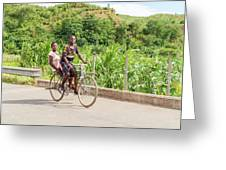 Cycling In Malawi Greeting Card