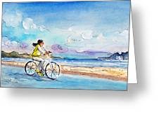 Cycling In Port De Pollenca In Majorca Greeting Card