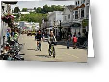 Cycling The Island Greeting Card