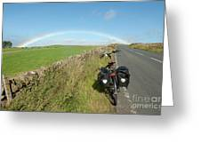Cycling To The Rainbow Greeting Card