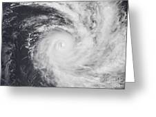 Cyclone Zoe In The South Pacific Ocean Greeting Card