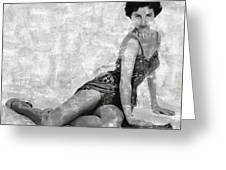 Cyd Charisse Hollywood Actress And Dancer Greeting Card