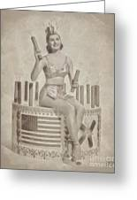 Cyd Charisse Hollywood Actress, Pinup And Dancer Greeting Card