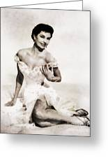 Cyd Charisse, Hollywood Legend By John Springfield Greeting Card