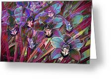 Cymbidium Carnival Greeting Card