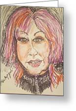 Cyndi Lauper Greeting Card