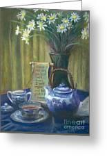 Cyndis Tea Time Greeting Card