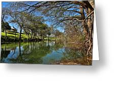 Cypress Bend Park Reflections Greeting Card