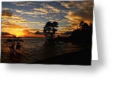 Cypress Bend Resort Sunset Greeting Card