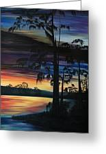 Cypress Sunset Greeting Card