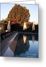 Cyprus Pool Reflection Greeting Card