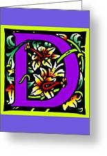 D In Purple Greeting Card