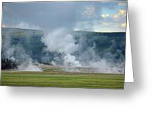D09125 Steam Vents Near Midway Geyser Basin Greeting Card