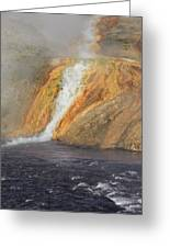 D09126 Outlet Of Midway Geyser Basin Greeting Card