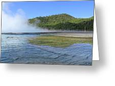 D09127 Reflection In Grand Prismatic Spring Greeting Card
