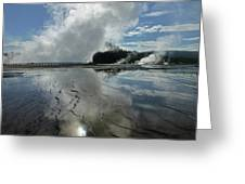 D09130-dc Cloud And Steam Reflect Greeting Card