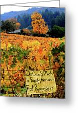 D8b6314 Autumn At Jack London Vinyard With Thanks To Firefighters Ca Greeting Card