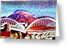 Da Mountain And Stadia 2 Greeting Card
