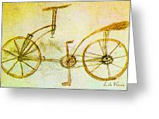 Da Vinci Inventions First Bicycle Sketch By Da Vinci Greeting Card