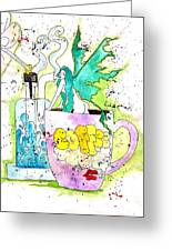 Dabs And Coffee  Greeting Card