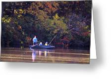 Dad And Sons Fishing Greeting Card