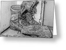 Dads Boots Greeting Card