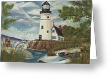 Dads Lighthouse Greeting Card