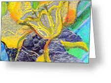 Daffodil Abstract Greeting Card