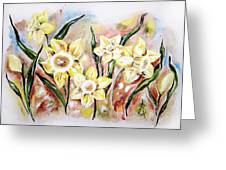 Daffodil Drama Greeting Card
