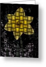 Daffodil Weave Greeting Card