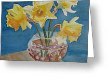 Daffodils And Marbles Greeting Card