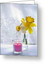 Daffodils And The Candle Greeting Card