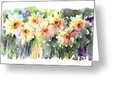 Daffodil's Dancing Greeting Card