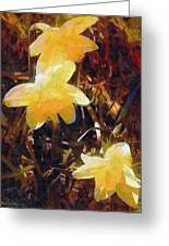 Daffs Gone Goth Greeting Card