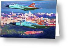 Daggers Over Madison In Oil Greeting Card