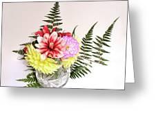 Dahlia Vase Still Life Greeting Card