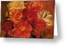 Dahlias Greeting Card