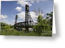 Dain City Railroad Bridge Greeting Card