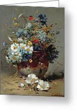 Daisies And Cornflowers Greeting Card