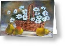 Daisies In Basket Greeting Card