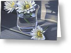 Daisies In Drinking Glass No. 2 Greeting Card