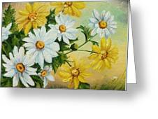 Daisies In The Sky Greeting Card