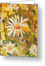 Daisies In The Wind Vii Greeting Card