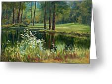 Daisies On The Golf Course Greeting Card