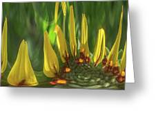 Daisy Abstract 032317-6357-4cr Greeting Card