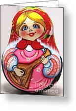 Daisy Balalaika Chime Doll Greeting Card