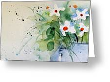 Daisy In The Vase Greeting Card