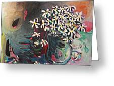 Daisy In Vase Greeting Card