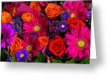 Daisy Rose Bouquet Greeting Card