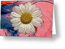 Daisy Swirls 1 Greeting Card